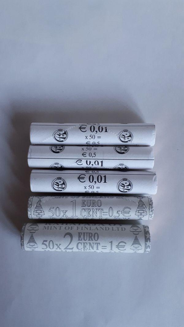 Euromünzen in Rolle