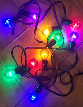 Lichterkette LED, 5m, 10 Birnen, bunt, mieten in Nordhorn
