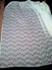 Weiße Gardine 2 4 54