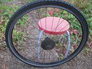 Fahrrad Hinterrad schwarz 28 zoll