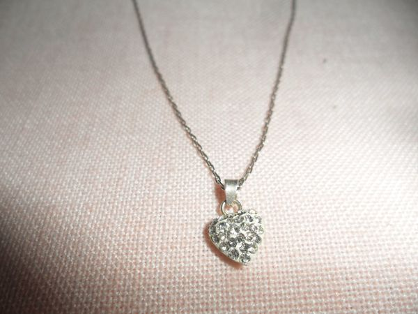 Halskette Rein Silber m Herz