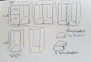 Regale 5 Stück 8 Schubladen