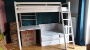 Kinder-Hochbett mit Büro und Ausziehbare