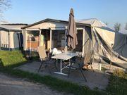 Dauerchamper beheizter Wohnwagen am Rohrspitz