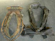 Vier alte originale Pferdekummets 40