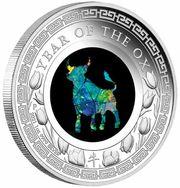 Australien 1 Dollar 2021 - Opal-Serie Ochse