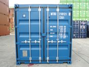 Seecontainer 20ft BJ2020 blau RAL5010