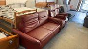 Hochwertiges Leder-Sofa mit 2 Sesseln verstellbar