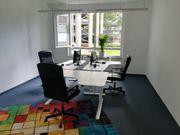 Komfortabler Arbeitsplatz Coworking in modernen