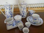 Seltmann Weiden Kaffeeservice Bayrisch blau