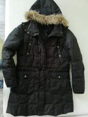 Wintermantel Damen schwarz - Größe 40 -
