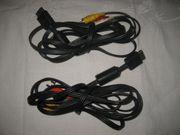 2 Stück AV-Kabel für Sony