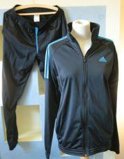 Trainingsanzug - Adidas - M - schwarz blau