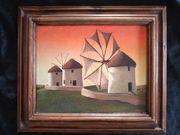 Bild Windmühle Akryl auf Leinwand