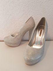 JUMEX High Heels 39 Silber