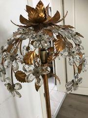 Antike Jugendstil Kristall Stehlampe