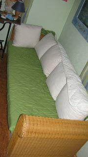 Rattan Sofa Couch - Liege - mit