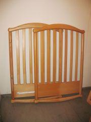Baby-Wiege Kinder-Bett umbaubar in Massivholz-Ausführung