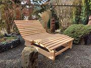 Relax Liege Sonnenliege Wellenliege Lärchenholz