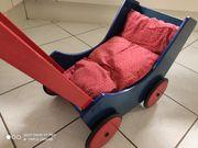 HABA Puppenwagen Holz Rot Blau