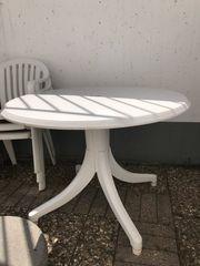 Gartentisch rund Plastik und 3
