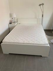IKEA Bett Askvoll weiß 140x200cm