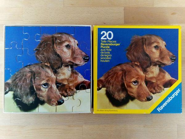 Ravensburger Puzzle aus Holz Hunde