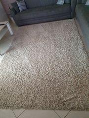 shaggy Teppich beige