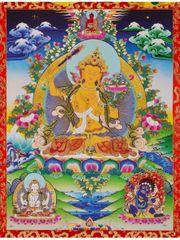 Buddha Manjushri Wandbehang tib Tangka