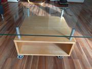 Ikea Couchtisch auf Rollen Glasplatte