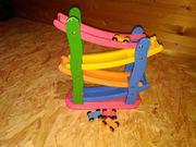 Holzrutschbahn für Spielzeugautos