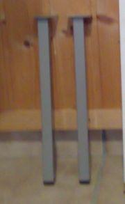 2 Stuhlbeine - vierkant - grau