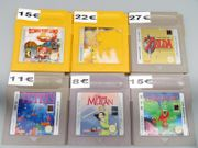 Nintendo GameBoy Spiele Pokemon Mario