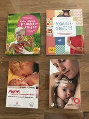 Verschiedene Bücher über Schwangerschaft und