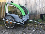 Fischer Kinder-Fahrradanhänger Komfort grün