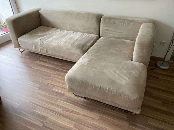 L-förmige Couch beige