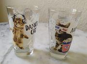2 Gläser - Katzen