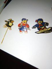 Anstecknadel Pins Opel Pinguine Snowboard