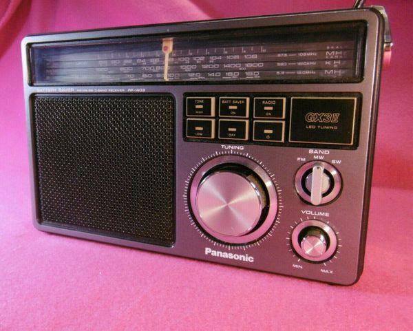 Radio Transistorradio tragbar Panasonic FM-MW-SW 3-Band Receiver RF-1403 JBS