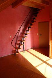 Treppe Raumspartreppe innen Holz Stahl