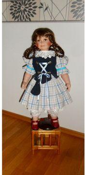 Porzellanpuppe - Puppe mit Aufsteller - Dekoration