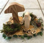 Herbstliche Deko aus Holz