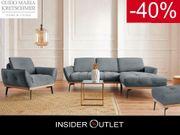 Ecksofa 245x185cm Hocker Sessel Blau