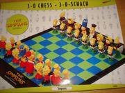 Simpsons 3 - D - Schachspiel Neu