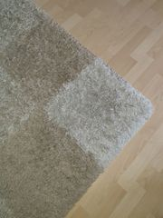 Teppich beige weiß 120 cm