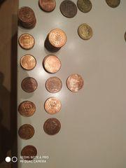 Verschiedene Euromünzen mit mehrwert