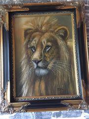 Ölgemälde Löwe von Rex