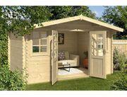 Gartenhaus David 400x500-cm-L-40-mm-Doppelnut-inkl-Boden