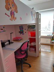 Kinderhochbett für Mädchen mit Schreibtisch