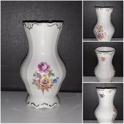 Weimarer Porzellan Bauchvase Blumen Strauß